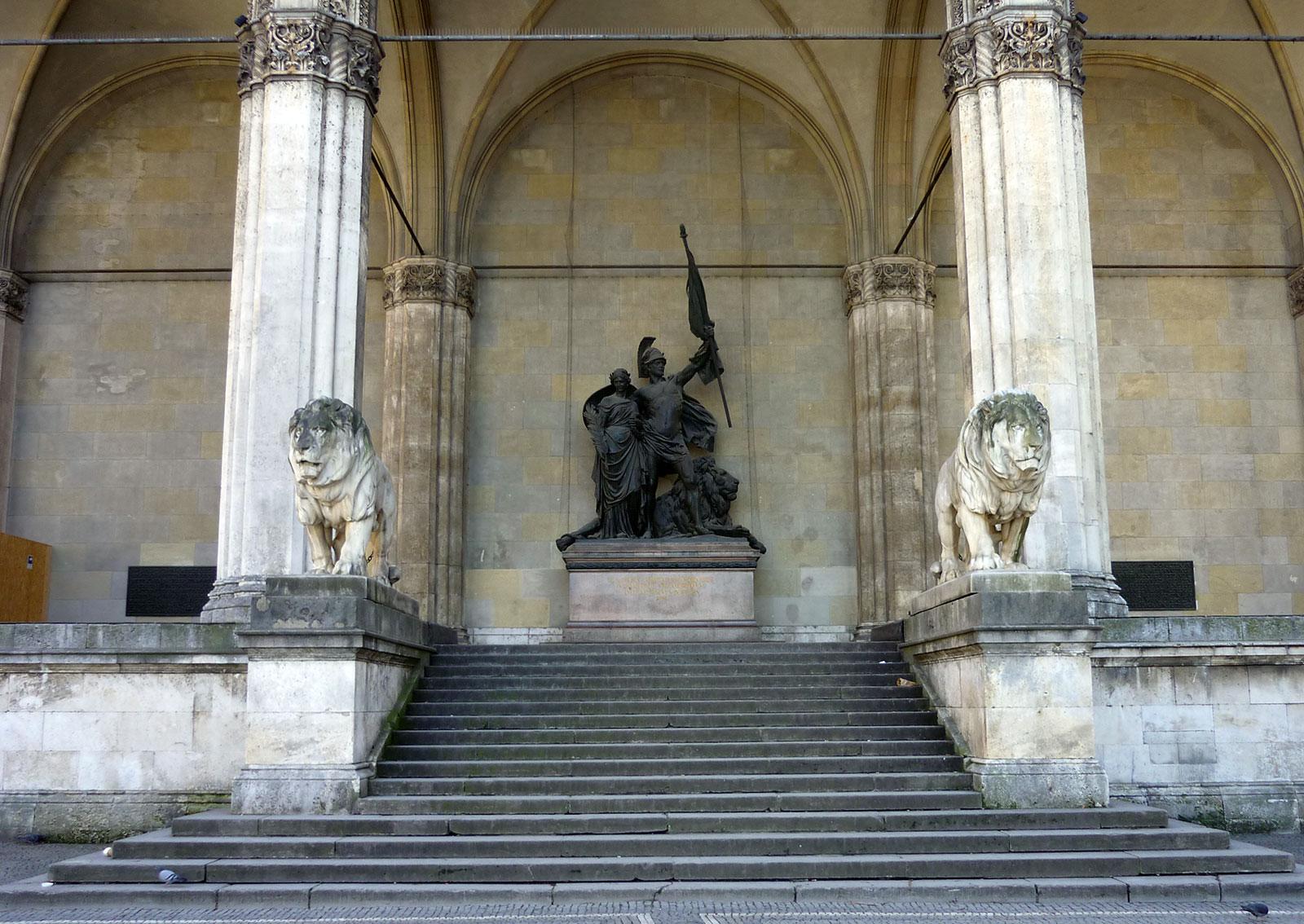 Feldherrnhalle, la Loggia dei Marescialli di Odeonsplatz