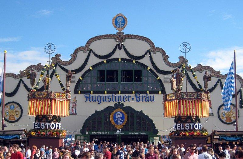 Tendone Augustiner oktoberfest monaco di baviera