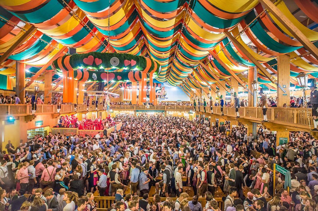 Tendone Schützen Festzelt oktoberfest monaco di baviera