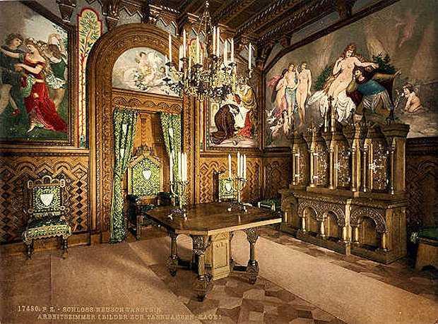 sala da pranzo castello walt disney